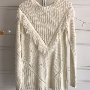Forever21 White Knit Sweater size S